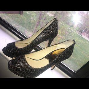 Michael Kor's Cheetah Print Peep Toe Heels
